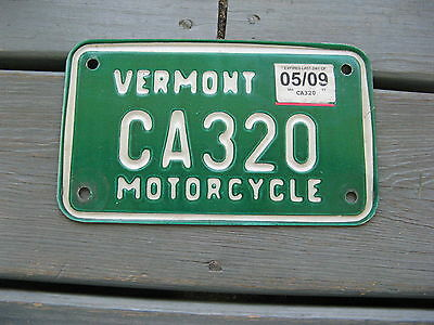 2009 09 Vermont Vt Motorcycle Mc License Plate Nice Tag Buy It Now