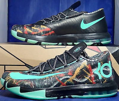 sports shoes 63515 a70fc Nike KD VI 6 All-Star Gumbo League Illusion NOLA Durant SZ 11.5 ( 647781