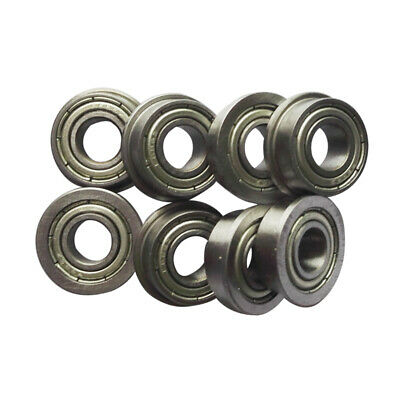 10pcs F693 F694 F695 F696 F698 F699ZZ Metal Double Shielded Flange Ball Bearings