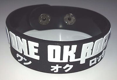 New One Ok Rock Rubber Bracelet Wristband Unisex White Souvenirs Day Wb9