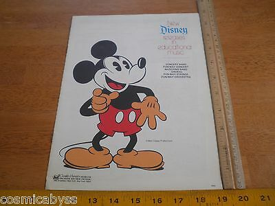 1970s Disney releases in Educational Music orchestra catalog band song books
