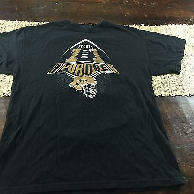Purdue Football Gold Black 12th Man T Shirt Black BoilerMakers Sz Medium
