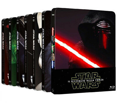 STAR WARS - La Saga Completa - STEELBOOK EDITION (7 BLU-RAY) 7 BOX SINGOLI
