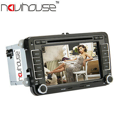 "Double 7"" HD Car DVD Player Autoradio Navi GPS BT USB For VW PASSAT Skoda T5 EOS"
