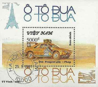 Timbre Sports Voitures Peugeot Viet Nam BF65 o lot 6611