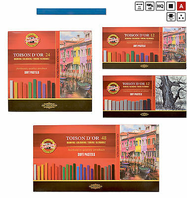 Soft PASTELS Dry Chalk Set KOH-I-NOOR Toison Artist BLOCKS for Drawing Toning