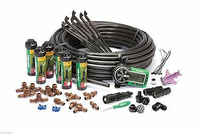 Underground Automatic Lawn Care Watering Sprinkler System Kit Easy to Install