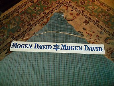 Vintage MOGEN DAVID / TABLE WINES CHAMPAGNE Steel Display Rack Sign Wall Hanging