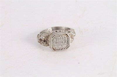 Antique Authentic Old Ottoman Turkish Islamic Silver Ring.