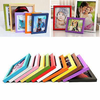 """Up A4 5"""" 6"""" 7"""" 8"""" Multi-size Room Decor Wooden Picture Photo Wall Frame Hot"""