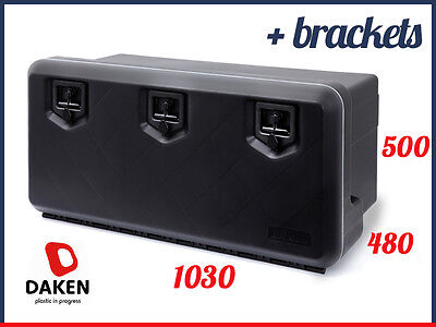 DAKEN Welvet 1000 TOOL BOX 154L + BRACKETS  / Truck Storage Box / Lorry / Bus