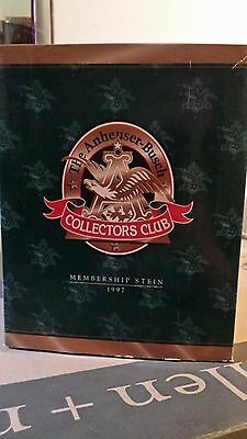 1997 ANHEUSER BUSCH MEMBERSHIP STEIN CB5  PRIDE & TRADITION budweiser