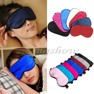 Silk Filled Sleep Eye Mask Sleeping blindfold Black Eyeshade shade Luxury Travel