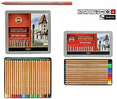 Soft PASTEL Pencil Set 48pcs Artist Drawing Crayon KOH-I-NOOR Gioconda 8829 8828