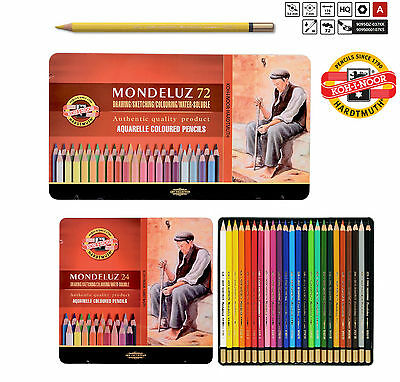 Aquarell Colored Pencil Set MONDELUZ Watercolor Artist Crayon KOH-I-NOOR 3727