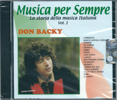Don Backy. I Successi (2000) CD NUOVO SIGILLATO L'Immensità. Casa Bianca. Poesia