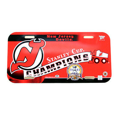 New Jersey Devils 2003 Stanley Cup Champions NHL Collectors Number Plate