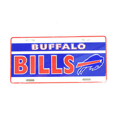 Buffalo Bills NFL Collectors Embossed Metal Number Plate