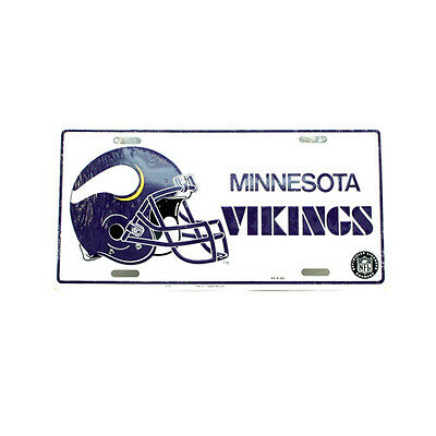Minnesota Vikings NFL Collectors Embossed Metal Number Plate