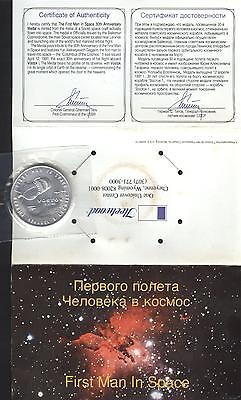 Gagarin 1st Man in Space Collectable Medal 30th Anniversary  1961 1991
