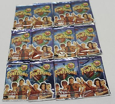 LOT OF 12 PACKS rare THE FLINTSTONES trading cards TOPPS vintage SEALED