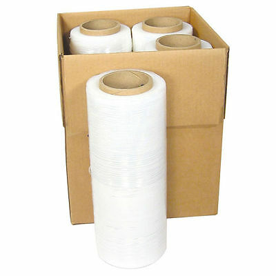 "18"" x 1500FT 80 Gauge Pallet Wrap Stretch Film Shrink Hand Wrap 1500' 4 Rolls"