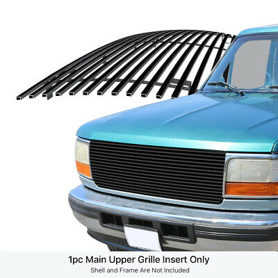 Fits 1992-1996 Ford Bronco/F-150/F-250/F-350 Stainless Black Billet Grille