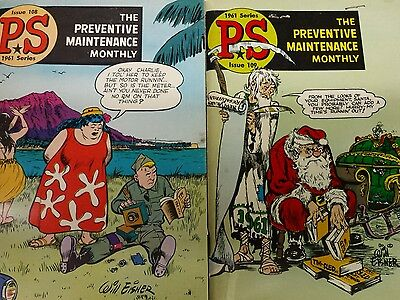 Vintage 1961 Series PS #108 & #109 The Preventive Maintenance Monthly lot of 2