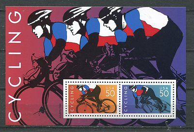 United States 1996 Cycling - Bicycle Race Souvenir Sheet Mint Complete!