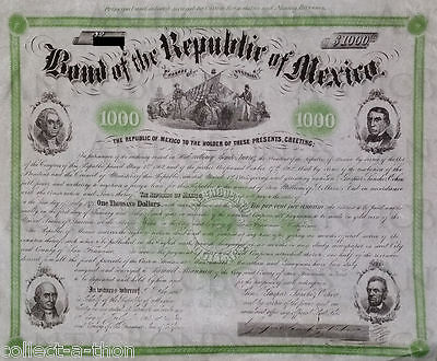 Insanely Rare Super Historic Mexico 4 Presidents Bond! Once-In-A-Lifetime Oppty!