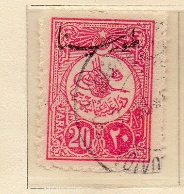 Turkey 1916 Early Issue Fine Used Optd 20p. 009634