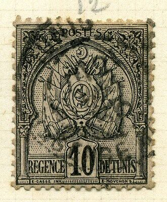 FRENCH COLONIES TUNISIA;  1890s classic 2nd issue fine used 10c. value