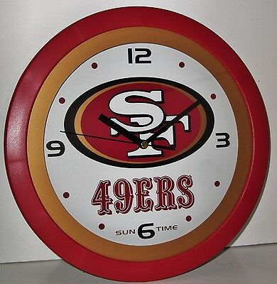 Sun Time – San Francisco 49ers Wall Clock! New in Package!