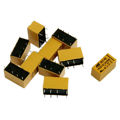 10 x DC 24V Coil DPDT 8 Pin 2NO 2NC Mini Power Relays PCB Type HK19F