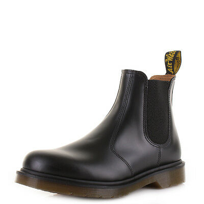Mens Dr Martens 2976 Black Smooth Leather Chelsea Ankle Boots Size