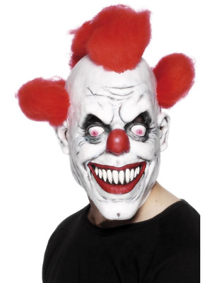 Scary Clown 3/4 Mask Evil Circus Halloween Fancy Dress Costume Accessory