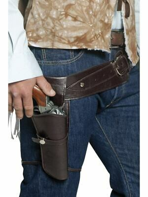 Authentic Western Wandering Gunman Belt & Holster Fancy Dress Accessory
