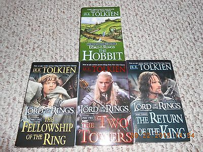 4 Book Box Set The Hobbit and The Lord of the Rings...JRR Tolkien.....Paperbacks