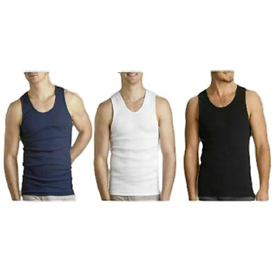 MENS BONDS 6 PACK SINGLET Chesty Navy White Black Cotton Vest Singlets S - 4XL
