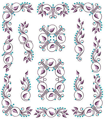 Flowers Ornaments #4: 11 Machine Embroidery Designs 5x7