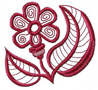 Fantasy Flowers #10: 9 Machine Embroidery Designs 4x4