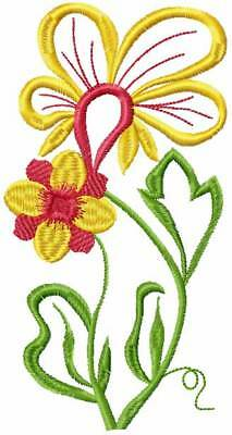 Fantasy Flowers #3: 9 Machine Embroidery Designs