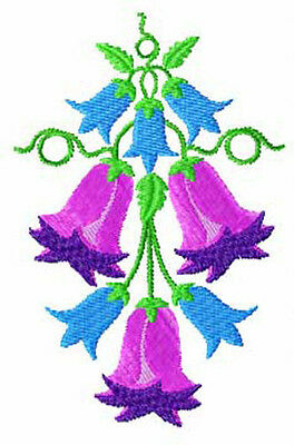 Bluebells Flowers 10 Machine embroidery designs set