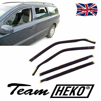 DVO31228 VOLVO V70 mk2 5 Door 2000-2007 WIND DEFLECTORS 4pc HEKO TINTED