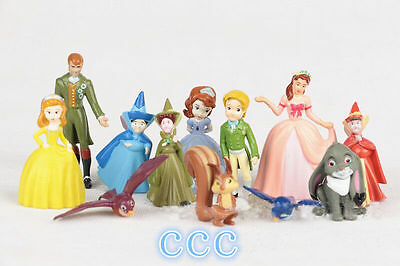 12PCS New Disney Sofia the First Goody figures set