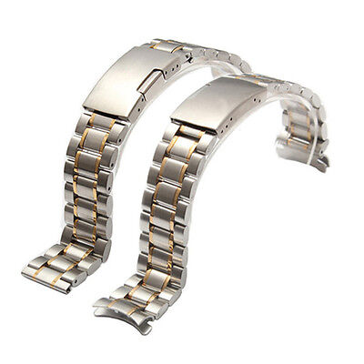 Solid Stainless Steel Deployment Clasp Watch Strap Band Bracelet 18/20/22/24mm