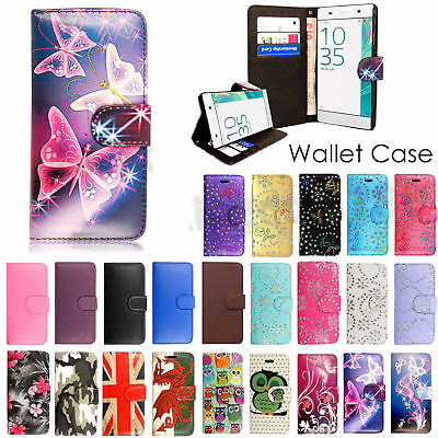 Leather Flip Case Wallet Stand Cover For Sony Xperia Experia Mobile Phone New