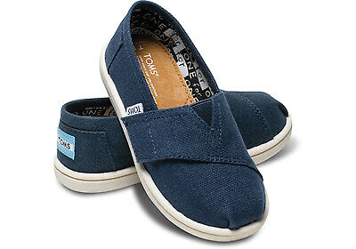 NEW Toddler Authentic Tiny Toms Classics Canvas Slip On Shoes  Flats