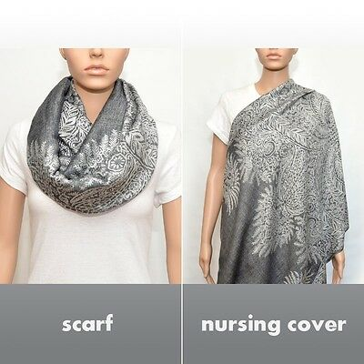 Baby Mum Breastfeeding Nursing Poncho Cover Up Udder Covers Blanket Shawl