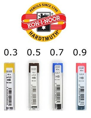 Fine Graphite Leads Koh-I-Noor For Mechanical Pencil Lead Refill 60Mm Technical